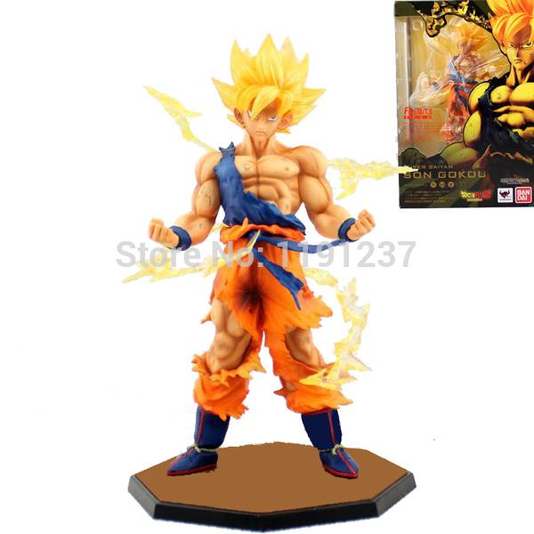 "Free Shipping Cool 6.8"" Dragon Ball Z SUPER SAIYAN GOKU Son Gokou Boxed PVC Action Figure Model Collection Toy Gift(China (Mainland))"