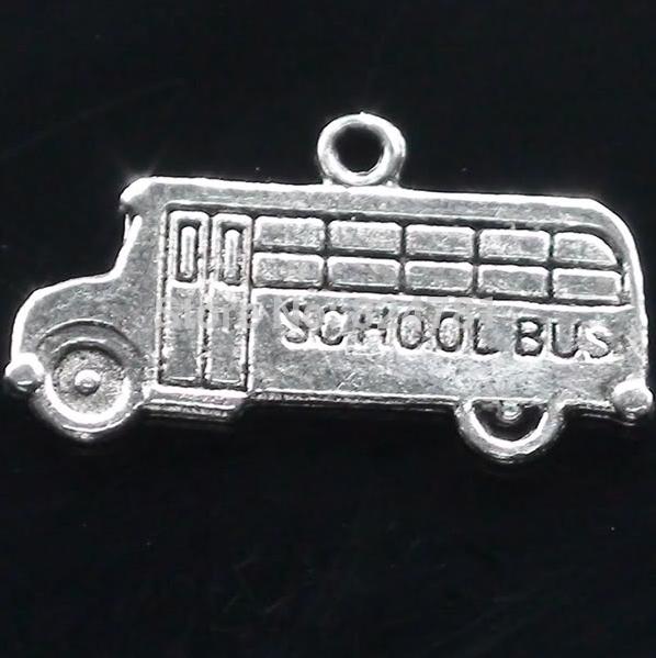 2015 Sale Limited Free Shipping Wholesale Fashion 200 Pcs Tibetan Beautiful School Bus Charms Pendants 23x12mm Jewelry Diy X1380(China (Mainland))