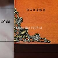 Wholesale antique metal corner flower stickers affixedr corner fillet thin notebook Corner bronze fillet