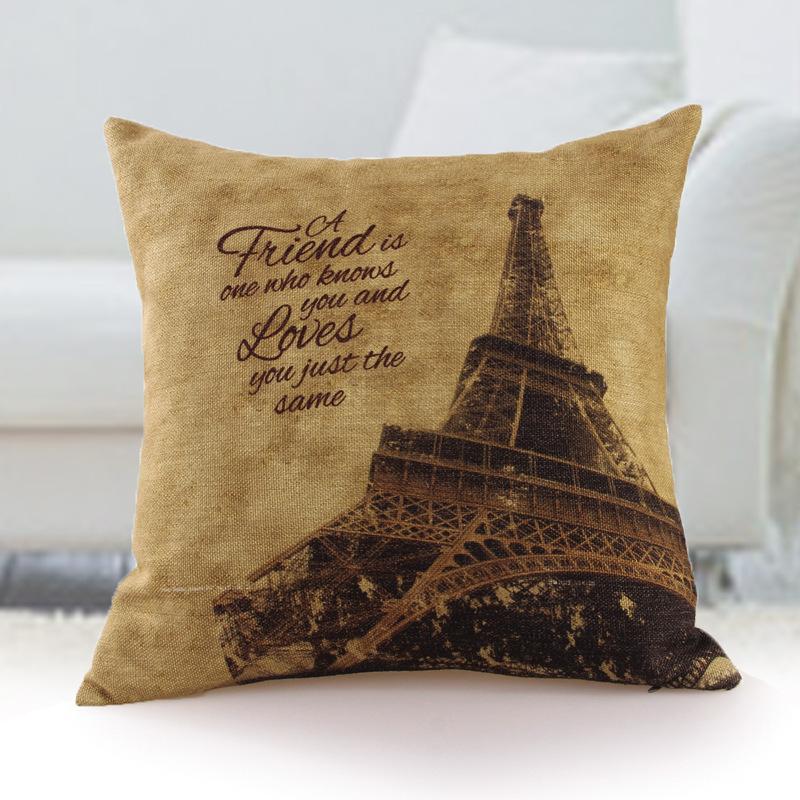 Creative household linen printing Fashion sofa pillows Contain car pillow, the pillow core free shipping(China (Mainland))
