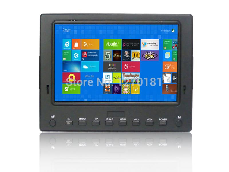 7 inch HD LCD Monitor 1024*600 IPS screen with HDMI/VGA/USB/Audio/Video input 5D2 DSLR monitor full view 6-24V(China (Mainland))