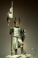 holding the flag of the Teutonic warrior 54mm