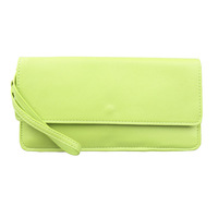 AB589 Modern Fashion solid Faux Leather envelope clutch money clip Wallet Purse
