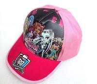 Wholesale 36pcNEW THE Monster High hat girls fashion summer cap visor sun hat kids baseball cap children accessories for kids