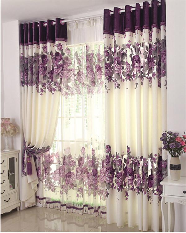 Achetez en gros rideaux de la chambre romantique en ligne for Photo rideau salon moderne