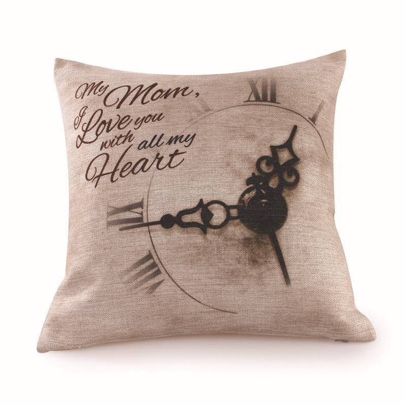 Household cloth art Printed cotton pillowcases Creative fashion sofa pillow pillows Contain the pillow core(China (Mainland))
