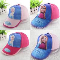 2014 Hot Sale Frozen Hats Lovely Children Baseball Cap Kids Pretty Elsa Sun Caps boy girls sun hat snapback hats polo hats