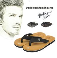 David Beckham in same Men's summer most popular flip-flops Beach Slippers High quality leisure slippers Free shipping