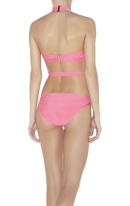 Розовый/синий недоуздок один кусок hl бандаж бикини купальник сексуальные купальные костюмы