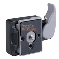 Black Camera 323 Quick Release Adapter with Manfrotto 200PL-14 Compat Plate P4PM
