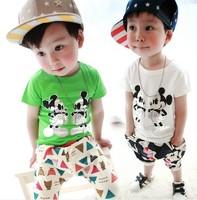 Hot1PCS Boy Girl Fashion T-Shirt Kids Summer Clothing Wear Children Mickey Minnie Short-Sleeved T-Shirt Fit 1-5Yrs Free Shipping