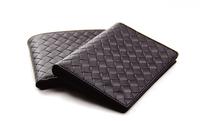 Designer Brand  Wallet Men Credit Card Bnib Knit Purse Hot Selling Cowhide Carteira