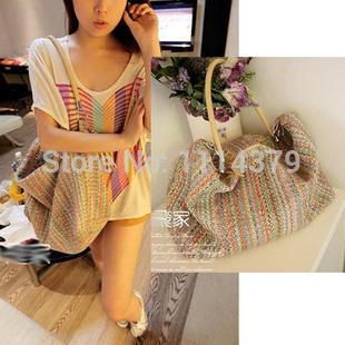 2014 лето цвет ткачество большой женщин сумки южной кореи ...