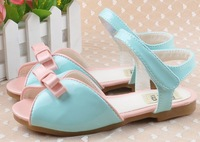 2014 summer  female child sandals girls princess shoes children open toe sandals pink ,sky blue