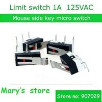 post free 10pcs/lot mouse side key micro switch limit switch 1A 125VAC Slice