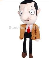 Free shipping 30-45cm large size  plush stuffed Mr bean dolls TV movie Character toys funny boy friend birthday gift  569
