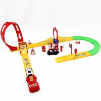 Wholesale for kids alloy car model car plastic toy  sport toys track slide f1 racing dump truck educational new 2014 boy