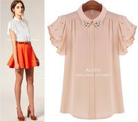 Summer fashion women all-match loose plus size chiffon shirt fashion shirt casual slim female cardigan