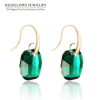 Neoglory  Crystal Rose Gold Plated Dangle Drop Earrings For Women 2014 Spring New Arrival Gift