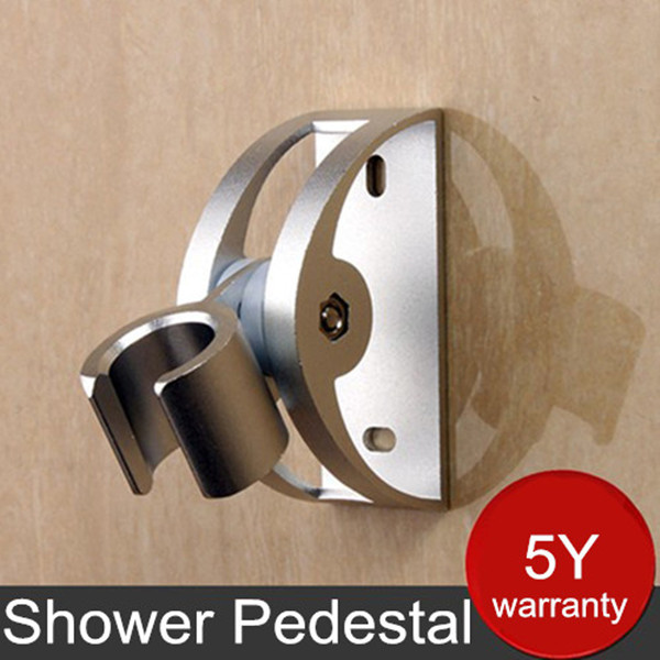 Solid Aluminum Alloy Wall Mounted Hand Shower Holder Hook Pedestal Bracket In Wall Shower Accessories(China (Mainland))