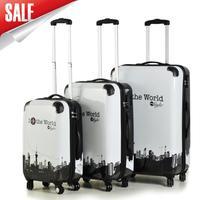 Men travel bags women suitcase universal wheels trolley rolling luggage bag 20 24  28