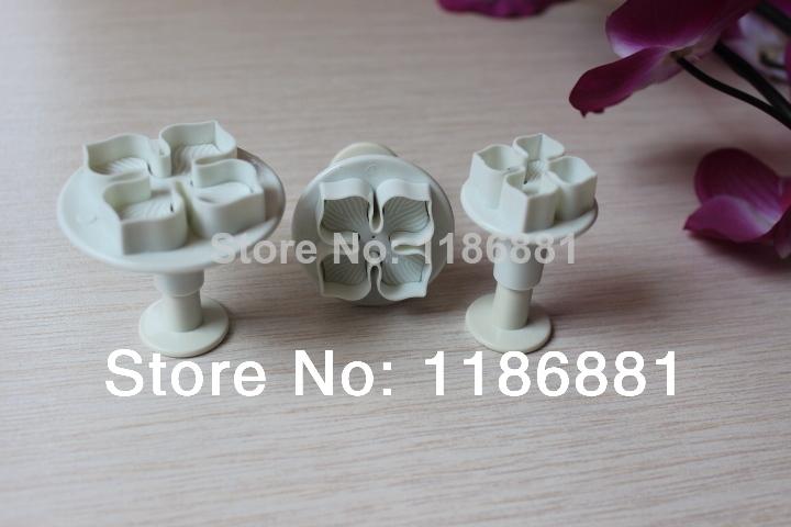 2014 limited cake tools molds 3pcs peach blossom shape mold sugar arts set fondant cake baking & pastry tools decorating cooking(China (Mainland))