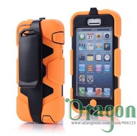 1pcs Durable Shockproof waterproof Military With Belt Clip Heavy Duty Robot stand Hard back case cover For iphone 5C