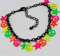 Wholesale Free Shipping New Arrival Anti-war stars fluorescent color bracelet