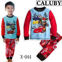 2014 Hot Sale Promotion Cotton A Generation Of Fat Children 's Children's Sleepwear Long-sleeved Tracksuit Boys Cartoon Pajamas