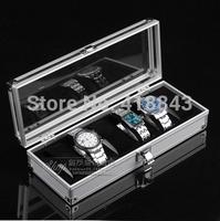 for men and women  gife High-grade Aluminum 6 watch box watch storage box watch storage case