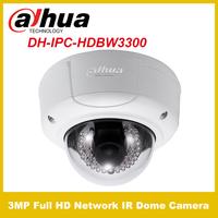 Original Dahua IPC-HDBW3300  3.0MP Full HD Vandal-proof Network IR Dome Camera IP Camera micro card max 32GB Free shipping