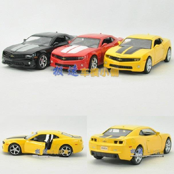 Candice guo! Yufeng Super cool 1:36 mini Chevrolet Camaro sports car Bumblebee alloy model car toy birthday gift 1pc(China (Mainland))