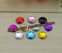 Retail 100pcs/lot 12mm Mixed 10 Colors Wedding Dress Rhinestones Acrylic DIY Fake Stones DIY Clothing Accessory Free Shipping