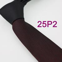 YIBEI Coachella ties SKINNY Tie New Arrival Black Knot Contrast Red Spots Dots Woven Microfiber Necktie SLIM Tie