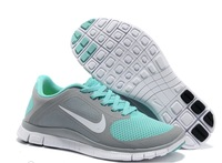free shipping  2014 Sneakers cushion shoes Net surface breathable light sport shoes for women's shoes running shoes. 580406-660
