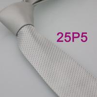 YIBEI Coachella ties SKINNY Tie New Arrival Silver Solid Color Knot Contrast Spots Microfiber Narrow Necktie SLIM Skinny Tie