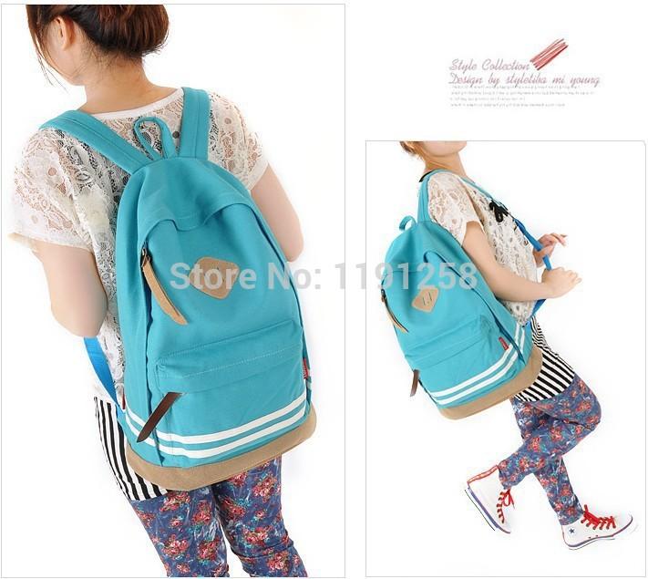 New Hot Girl Women Cute Pig Nose Backpack Student School Bag Canvas bag Tr