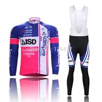 2013 Lampre team full sleeve autumn bib cycling wear clothes Bicycle jersey bike riding cycling jerseys bib pants set