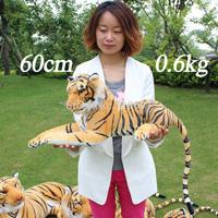 Soft Plush Tiger,Stuffed Emulational Toy Animal,Life-Like,Lie Prone Posture,60cm,1PC,Drop Free Shipping