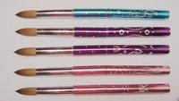 Wholesale+New Design 8# Nail Tools Pure kolinsky professional diamond painting Nail acrylic brush Free Shipping 1pcs