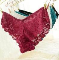 Plus size XL,XXL,XXXL 5pcs/lot women sexy lace underwear sexy lingerie lace briefs underwear panties excellent quality