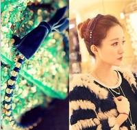 2014 Hot Sale Fashion Free shipping 10pcs/lot korea fashion cloth bowknot hair bands for girls