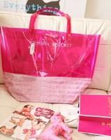 Retail 1pcs 2014 new design VS brand Transparent shoulder bag jelly clear handbag free shipping