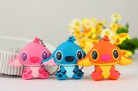 New 2015 3 Style Colors Cute Cartoon Stitch model Plastic Model 4GB 8GB 16GB 32GB Enough 2.0 USB disk Flash memory stick