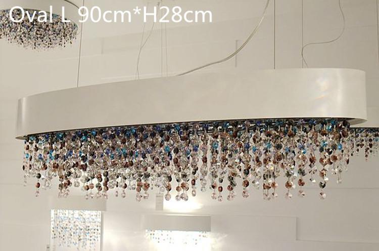 Colorful dining room pendant lamps modern large crystal pendant light wedding lighting fixture bedroom crystal hanging lights(China (Mainland))