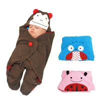 SKP Cartoon Zoo Travel Blanket Sleeping bag stroller baby care - Owl,Ladybug,Monkey