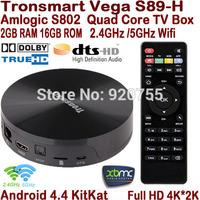 Tronsmart Vega S89-H Quad Core Android TV Box Amlogic S802-H 2GB/16GB Mali450 GPU 2.4G/5G Dual Wifi 4K*2K HDMI Dolby DTS S89 H