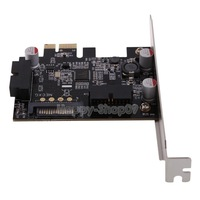 BUH9 2-Port SuperSpeed Mini USB 3.0 PCI-E PCIE PCI Express Network Card Adapter