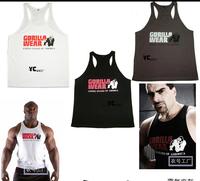 Gym printed gold's vest bodybuilding sport body singlet men TOPS VEST tights sleeveless cincher lose Tank Top cotton vest