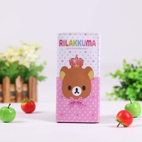 pink wallet Rilakkuma Purse Coin Wallet bag card holder bear wallets PU Bags Dropshipping